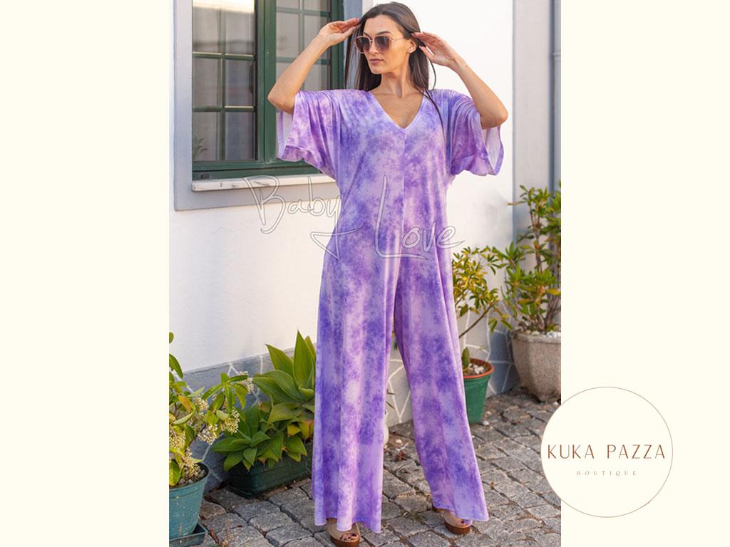 Macacão Tie-Dye Lavender