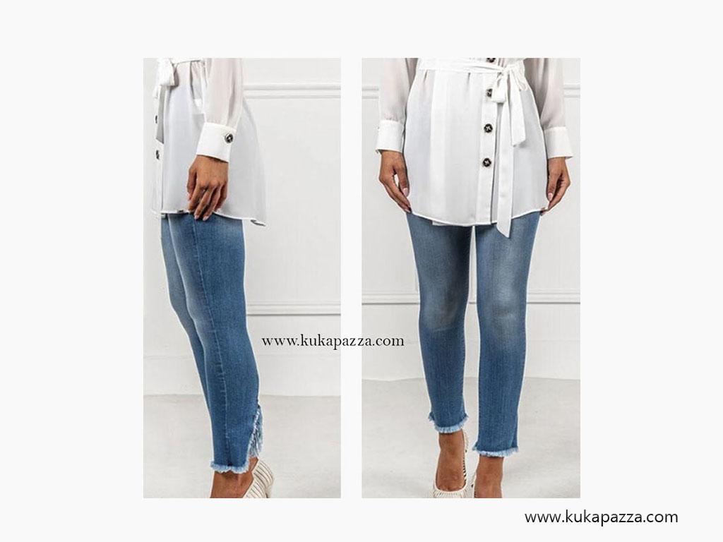 Calça Jeans Zip
