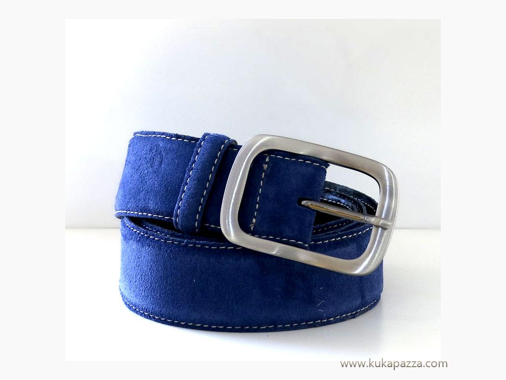 Cinto Largo Camurça Azul