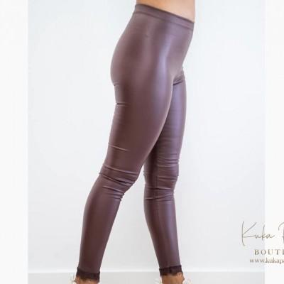Calça Leather Lace