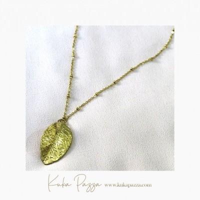 Colar Golden Leaf