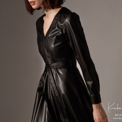 Vestido Leather