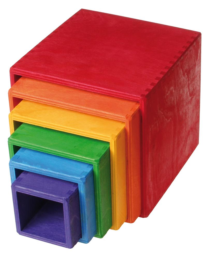 Caixas Empilháveis Arco-Íris