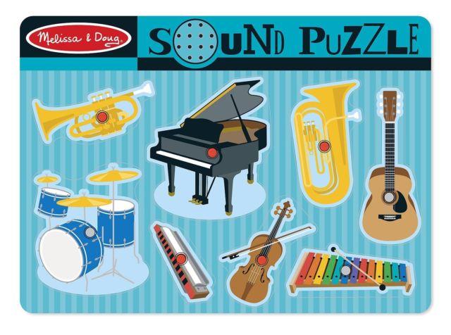 Puzzle de Sons dos Instrumentos Musicais