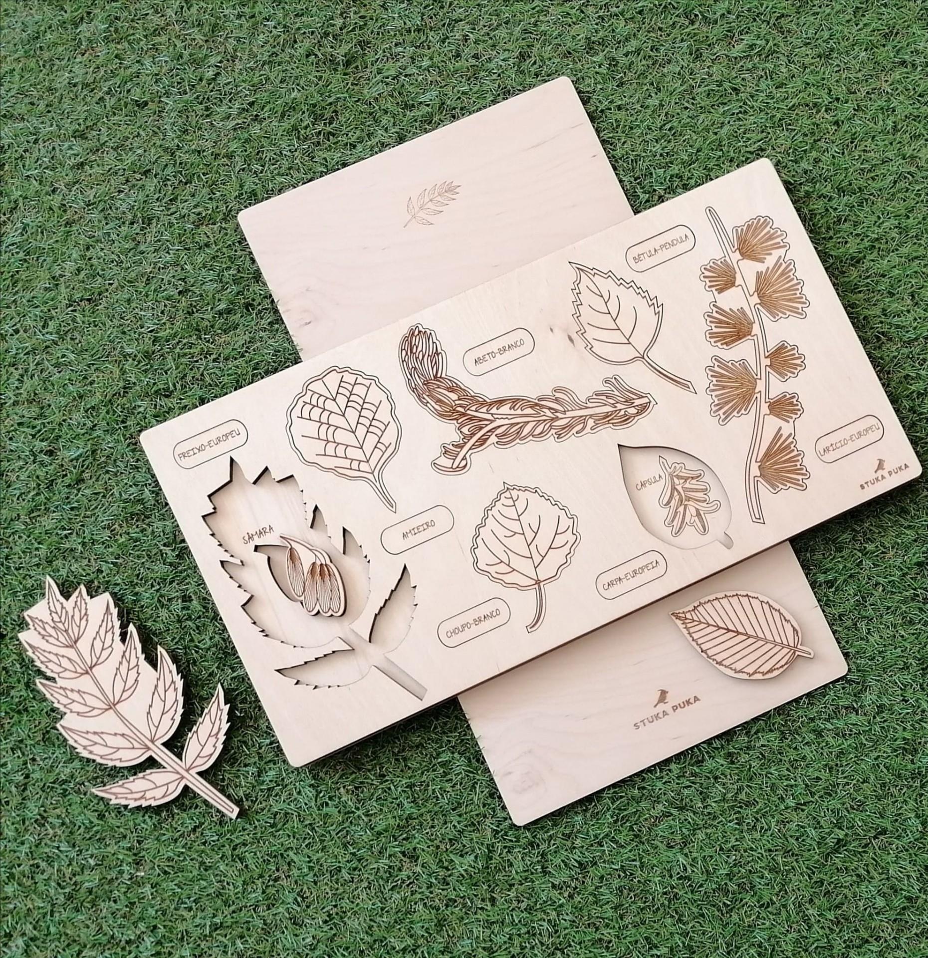 Puzzle em níveis Folhas e Frutos