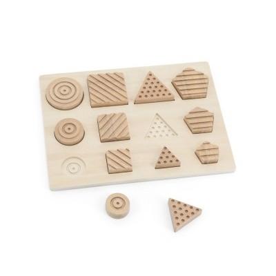 Puzzle Tátil das Formas Geométricas