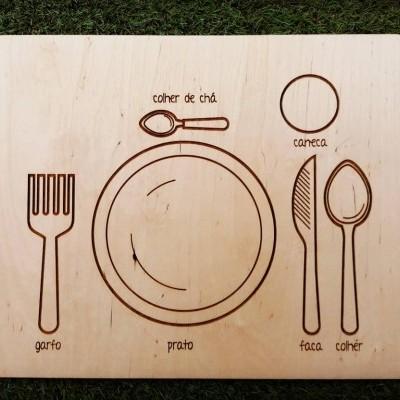 Tabuleiro Vamos pôr a mesa?