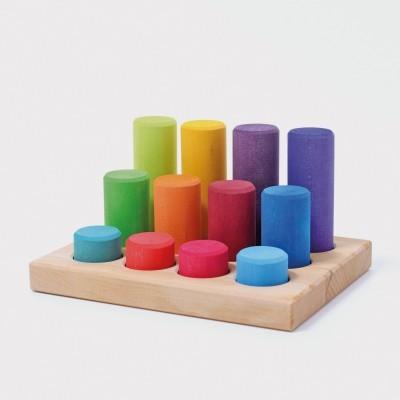 Jogo de Encaixe Arco-Íris