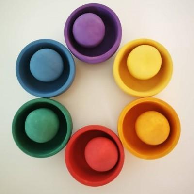 Set Bolas + Taças Arco-Íris