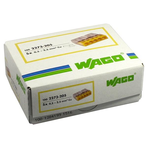 Ligador 5 ligações - Wago 2273-205