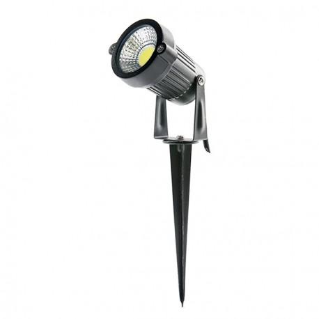 Foco LED 9W com Espeto para Jardins