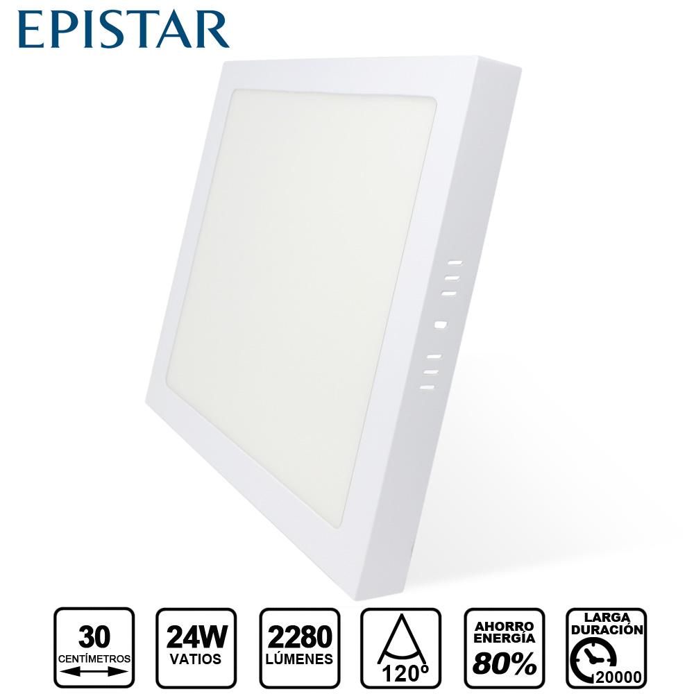 Painel LED Saliente Quadrado  24W Branco