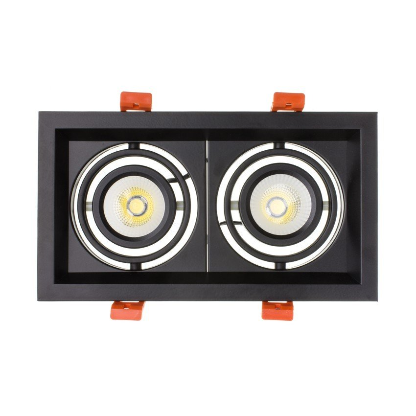 Downlight LED CREE-COB Direccionável Madison Preto 2x10W