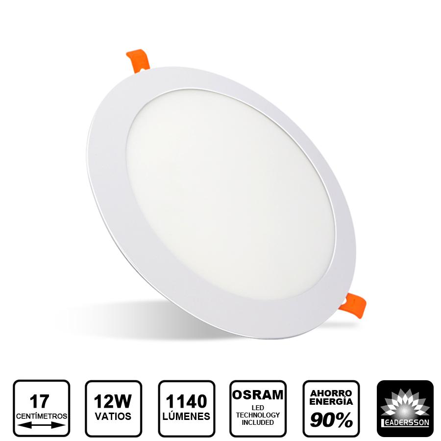 Painel LED  Redondo 12W Branco PLUTON