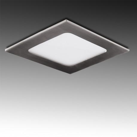 Painel LED Quadrado 12W Aço Escovado