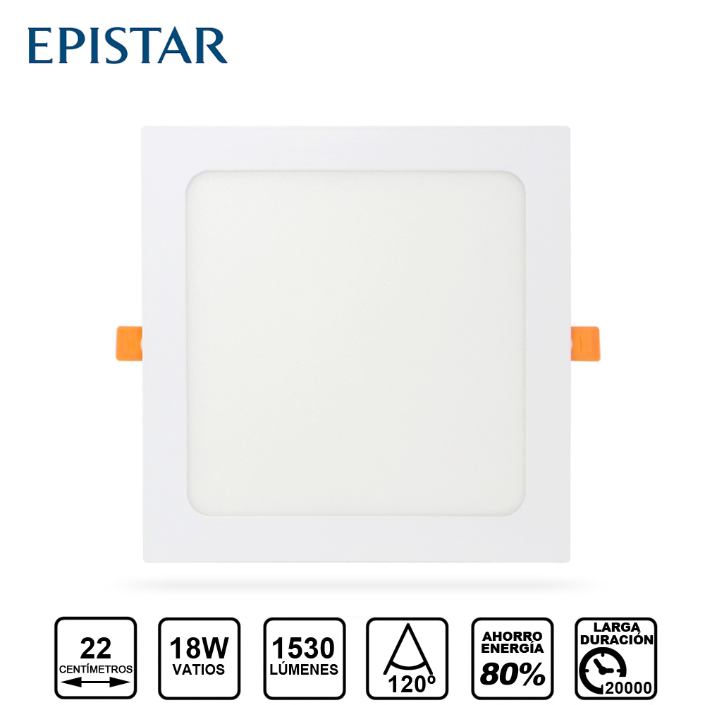 Painel LED Quadrado 18W Branco