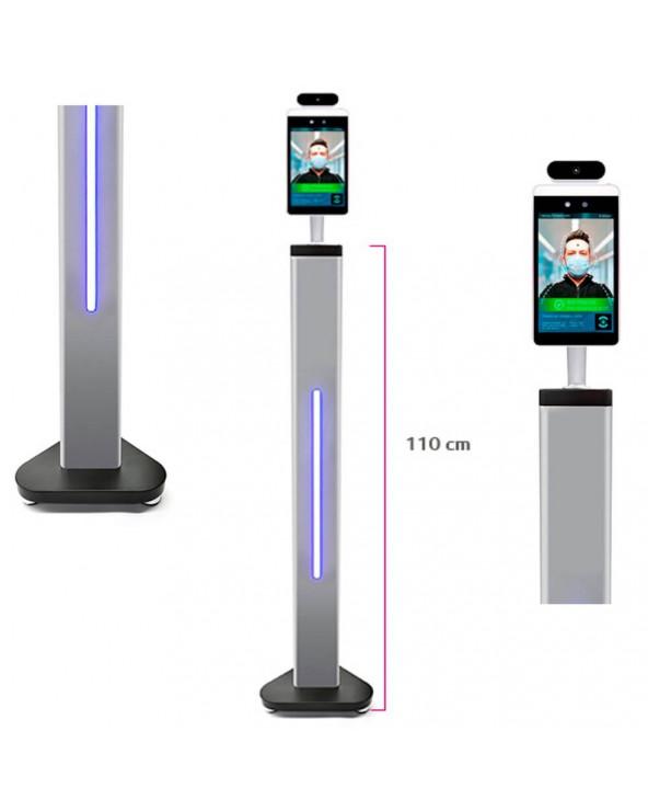 Módulo de Control Acessos com Reconhecimento facial e Medição de Temperatura Base chão