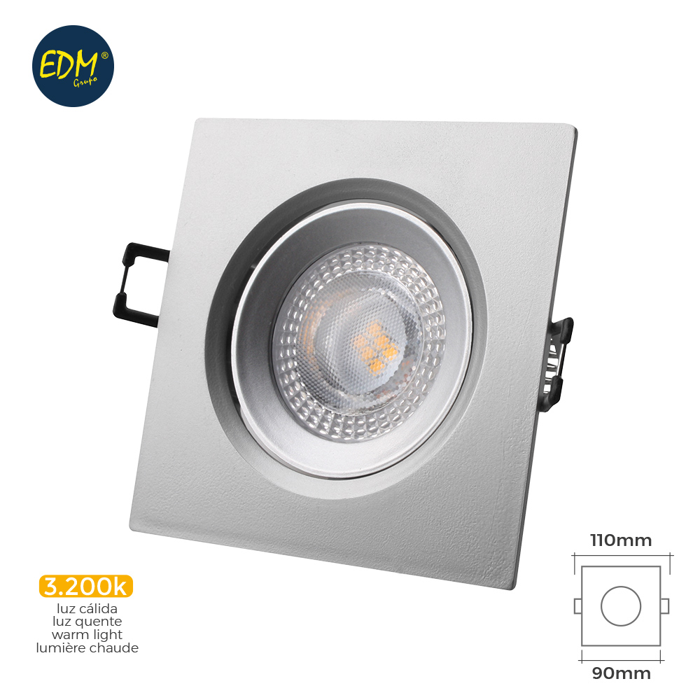 DOWNLIGHT LED 5W QUADRADO Cromado