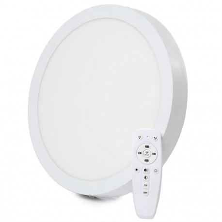 Painel LED Saliente 24W  CCT Regulação Brilho +Temperatura de cor