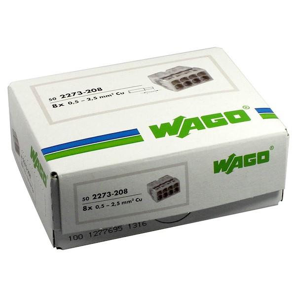 Ligador 8 ligações - Wago 2273-208