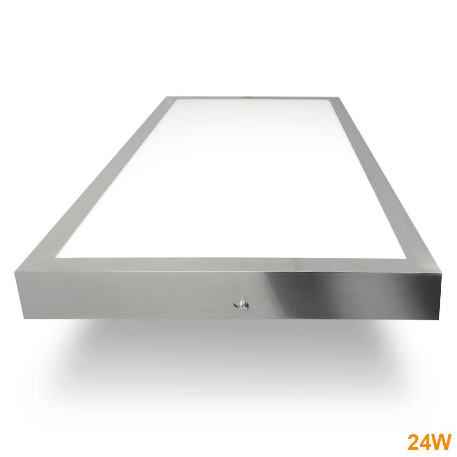 Painel  LED Saliente 24W  Níquel 60x30