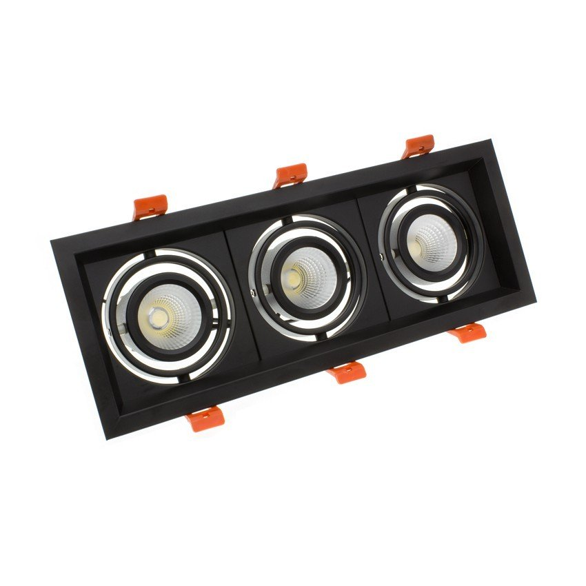 Downlight LED CREE-COB Direccionável Madison Preto 3x10W