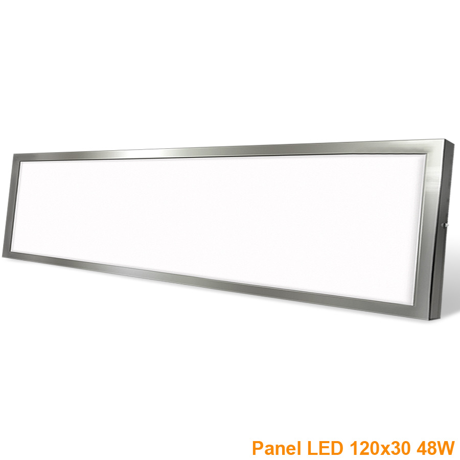 Painel LED Saliente  48W Niquel 120x30