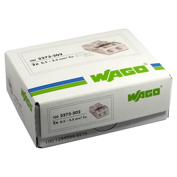 Ligador 2 ligações - Wago 2273-202
