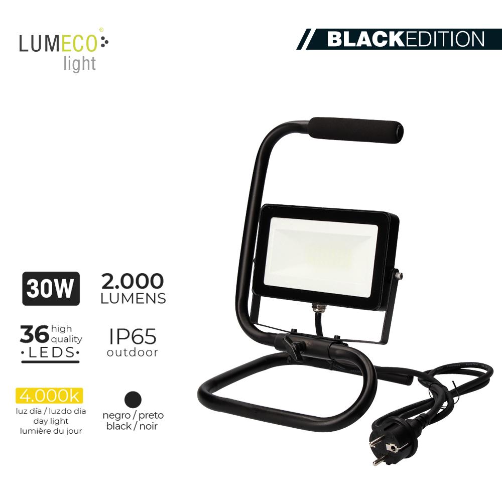 "Aluguer de Projetor LED 30W  ""Black Edition"" C/SUPORTE"