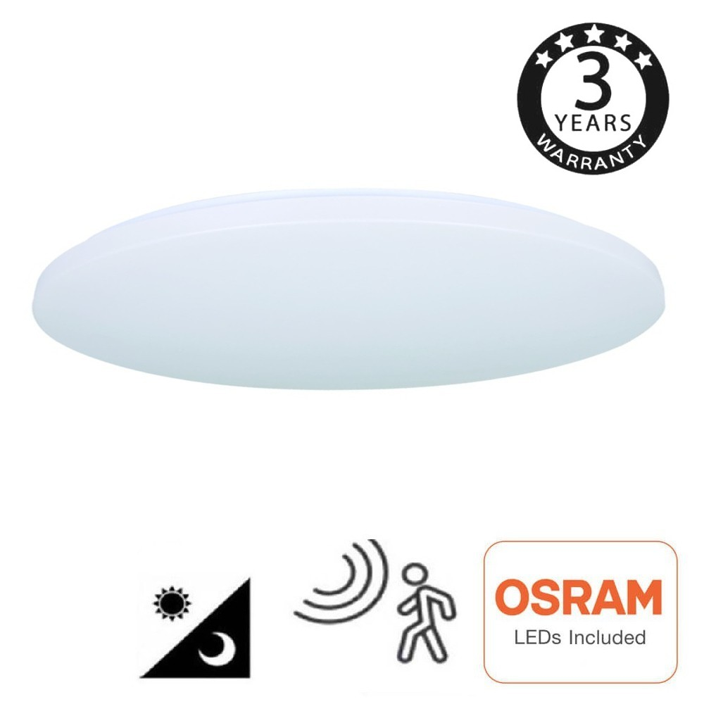 Plafon LED de superfície 18 W - 4000K - SENSOR DE RADAR