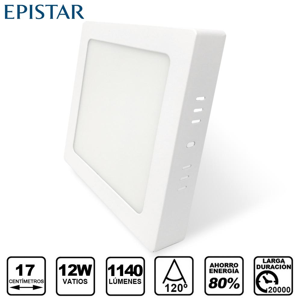 Painel LED Saliente  Quadrado 12W Branco