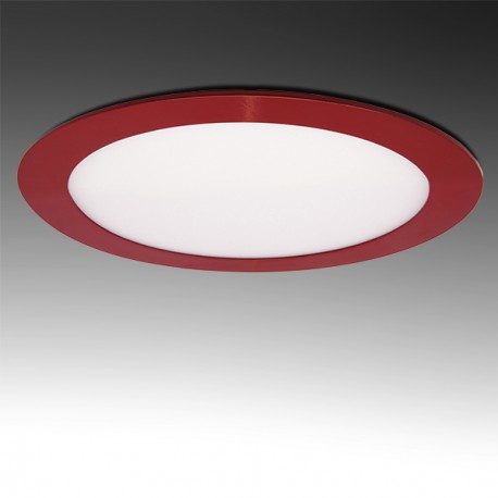 Painel LED Redondo 18W Vermelho