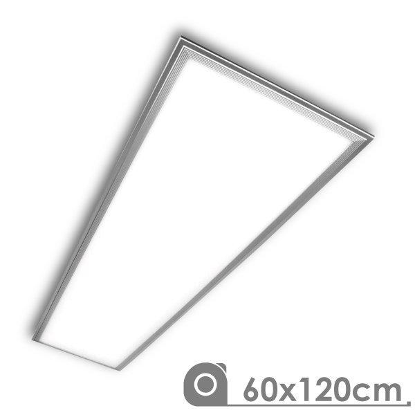 Painel LED 1200x600 72W Prateado