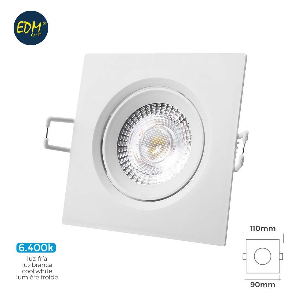 DOWNLIGHT LED 5W QUADRADO Branco