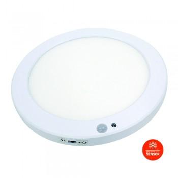 Plafon LED Redondo de 18W com sensor de movimento e crepúsculo