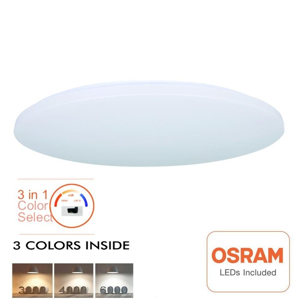 Plafon LED de superfície 18 W - CCT Selecionável