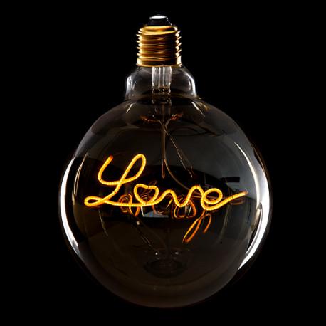 "Lâmpada Vintage LED Dimável ""LOVE"" G125 4W"