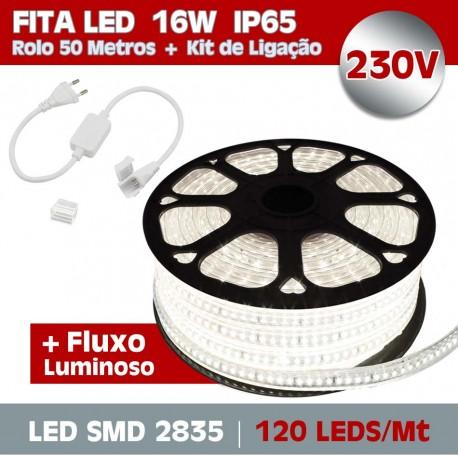 Pack Fita LED 230V 16W 2835-120 LEDs