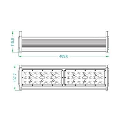 Campânula Linear LED 150W IP65  MEAN WELL  Regulável