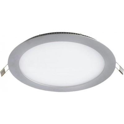 Painel LED  Redondo 12W Prateado