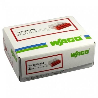 Ligador 4 ligações - Wago 2273-204