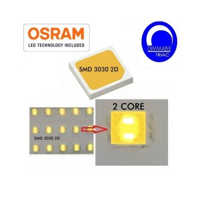 Campânula Industrial LED PRO Preto 100W chip OSRAM SMD 3030