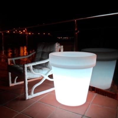 Vaso LED RGBW 60cm Recarregável