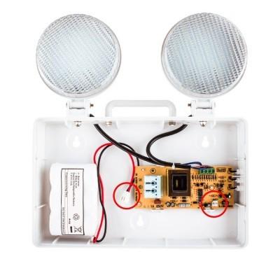Emergência LED TwinSpot Circular 3W