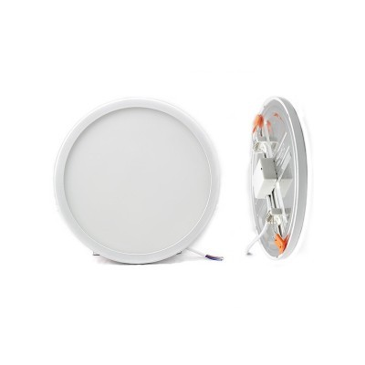 Painél LED 22W Redondo Corte Ajustável CCT