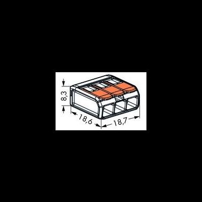Ligador 3 ligações - Wago 221-413