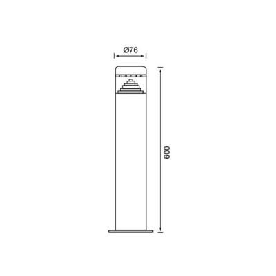 Poste LED  ROUND 60cm 8W