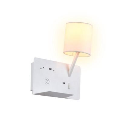 Aplique LED BOHR com alta voz Bluetooth e carregador USB