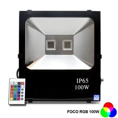 Projector LED RGB COB  100W C/ Comando