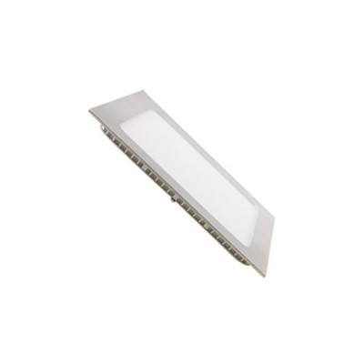 Painel LED Quadrado 18W Prateado